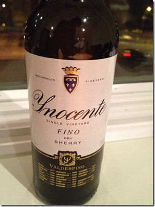 Valdespino Inocente Single Vineyard Fino (Dry) Sherry, Andalucia, Spain